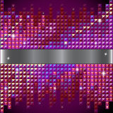 Vector Rhinestone red mosaic background Royalty Free Stock Photo