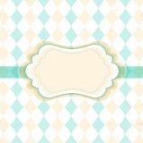 Vector rhombus vintage frame Royalty Free Stock Photo