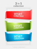Vector Ribbon and Banner Collection with place for Your Text. Color Bookmarks. Infographycs Stock Image