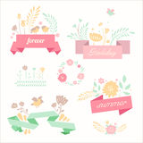 Vector ribbon banners in retro style Royalty Free Stock Photo