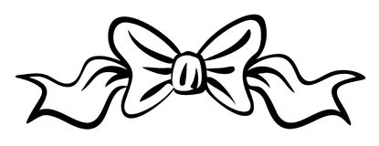 Vector Ribbon Bow. This is a vector image - you can simply edit colors and shapes royalty free illustration