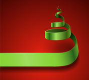 Vector Ribbon Christmas Tree Royalty Free Stock Photos