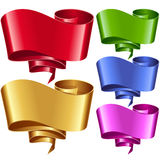 Vector ribbon frames set. Banners in the shape of speech bubble Stock Photography