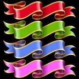 Vector ribbon frames set Royalty Free Stock Image