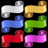 Vector ribbon frames set Stock Photography