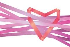 Vector ribbon heart Royalty Free Stock Photo