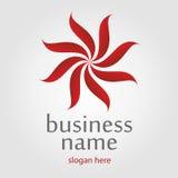 Ribbon flower logo Royalty Free Stock Photos