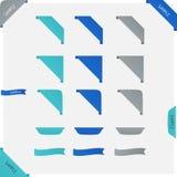Vector ribbon set Stock Image