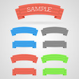 Vector ribbon set Stock Images