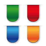 Vector Ribbon set - red, blue, green, orange Royalty Free Stock Image