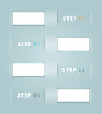 Vector Ribbon Steps Design. Infographic white 3d Vector Ribbons with Health Icons for exercise, water, sleep and diet with editable transparent shadows made in Royalty Free Stock Image