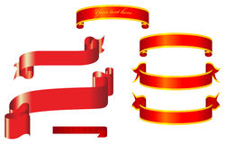 Vector ribbons Stock Photo