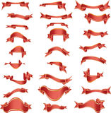 Vector ribbons. Collection of vector curves ribbons in different shape Royalty Free Stock Photo