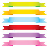 Vector Ribbons in 6 Colors Royalty Free Stock Photos