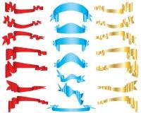 Vector ribbons stock photos