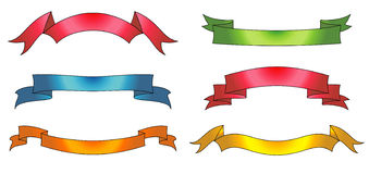 Vector ribbons Stock Photos