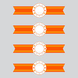 Vector ribbons and badge labels Royalty Free Stock Photo