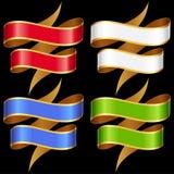 Vector Ribbons banner set Royalty Free Stock Photos