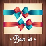Vector  Ribbons And Bows Set Illustration. colorful gift bows with ribbons Stock Images