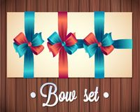Vector  Ribbons And Bows Set Illustration. colorful gift bows with ribbons Stock Image