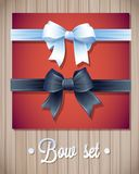 Vector  Ribbons And Bows Set Illustration. colorful gift bows with ribbons Royalty Free Stock Images