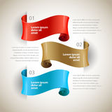 Vector ribbons. Design infographics template Royalty Free Stock Images