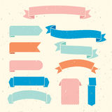 Vector ribbons and labels  on a light background Stock Images