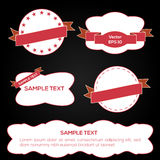 Vector ribbons and labels Royalty Free Stock Photo