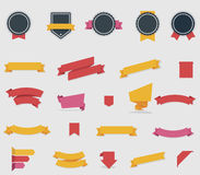 Vector ribbons and labels Royalty Free Stock Images
