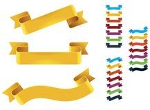 Vector ribbons set Stock Photography