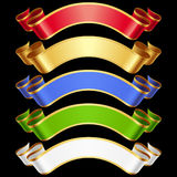 Vector Ribbons set 6 Stock Image