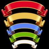 Vector Ribbons Set 7 Royalty Free Stock Images