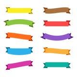 Vector Ribbons Set Stock Photo