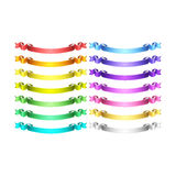 Vector ribbons set Stock Images