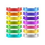 Vector ribbons set Stock Image
