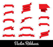 Vector Ribbons Set Collection Royalty Free Stock Images
