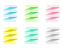 Vector ribbons set Royalty Free Stock Photo