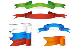 Vector ribbons. A set of colorful realistic  ribbons Stock Photography