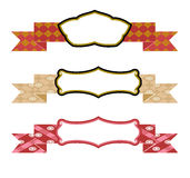 Vector ribbons set Royalty Free Stock Images
