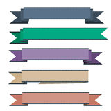 Vector ribbons set isolated. Five vector ribbons, set isolated Royalty Free Stock Image