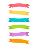 Vector ribbons set. Royalty Free Stock Photo