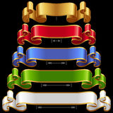 Vector Ribbons set 12 Royalty Free Stock Photography