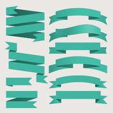 Vector ribbons set vintage style Royalty Free Stock Photography