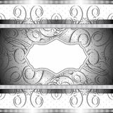 Vector rich banner in black Stock Image
