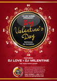 Vector rich night party valentine's day. Template poster graphic Royalty Free Stock Photography