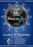 Vector rich night party valentine's day. Template poster graphic.  Royalty Free Stock Image