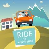 Vector Ride to Countryside Royalty Free Stock Photos