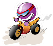 Vector riding ball Royalty Free Stock Image