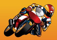 Riding the sportbike. Vector of Riding the sportbike Royalty Free Stock Photography