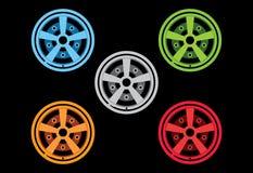 Vector rims 5 color Stock Image